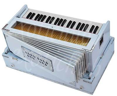 HARMONIUM WHITE BY KAAYNA MUSICALS~PETI~3½ OCTAVES~440 Hz~YOGA~BHAJAN~MANTRA