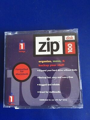 Iomega Zip Disk 100. Organise, Move & Backup Your Stuff. Pack Of 2 Disks.
