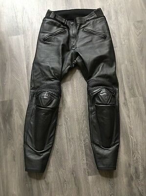 DAINESE Full Leather Motorcycle Pants/ Trousers size EUR 48 (32)