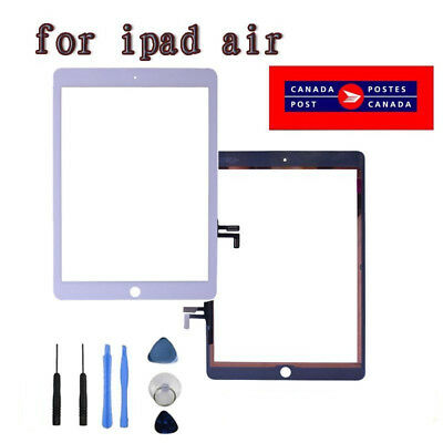 For iPad Air 5th  Touch Screen Digitizer Replacement Part+  Adhesive  White