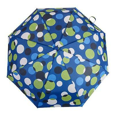 Austin House Folding Telescopic Umbrella Automatic Open & Close Blue Dots