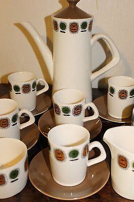 Retro coffee set Clarence Crown Staffordshire