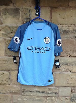 Brand New With Tags Manchester City FC 2016/17 Nike Home Shirt Blue Medium Jesus