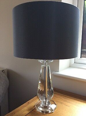 Table lamp cut glass base,two lamps and shades