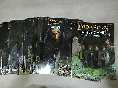 Lord of the rings LOTR battle games magazine series