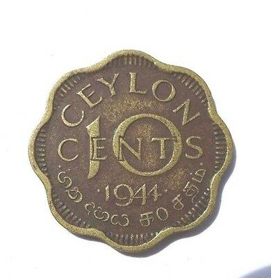 1 Old Coin From Ceylon 10 Cents