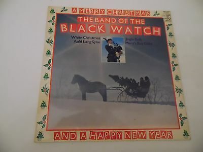 """THE BAND OF THE BLACK WATCH. A MERRY CHRISTMAS. 12"""" 33rpm LP Records . 1976."""