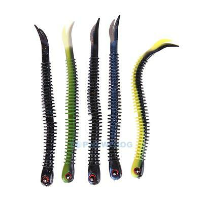 Lot 4pcs Soft Worm Fishing Lure Crank Baits Sea Fishing Tackle Simulation Lures