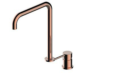new design kitchen tap mixer separate gloss rose gold  copper gold Brass faucet