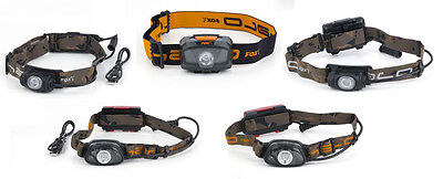 New Fox Halo Headtorch Head Torch 200 MS250 MS300c AL320 AL350c Fishing Light