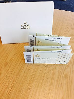 6 x Royal Ascot Tickets Ticket Thursday 22nd June Queen Anne Ladies Day