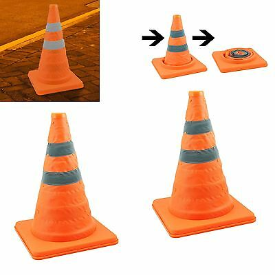 "2 x 18"" COLLAPSIBLE PULL OUT POP UP SAFETY EMERGENCY ACCIDENT TRAFFIC ROAD CONE"