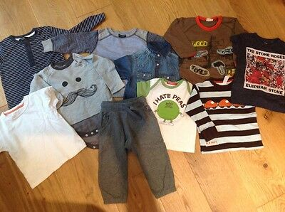 12-18 month boys clothes bundle includes Next sweatshirt, tshirt, joggers etc