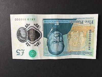 £5 note 900000