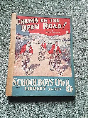 """Frank richards"""" chums on the open road !"""" schoolboys own library number 347"""