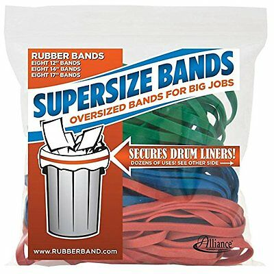 Alliance Rubber 08997 SuperSize Bands, Assorted Large Heavy Duty Latex Rubber -