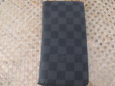 Louis Vuitton Graphite Portefeuille Brazza N62665 Ta1121 Used Authentic  Lv