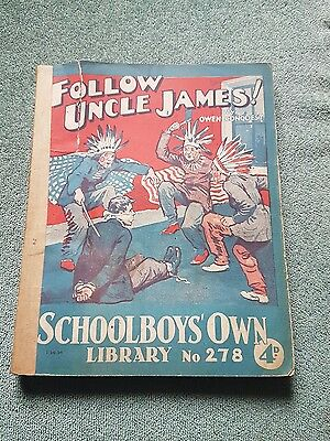 """Frank richards"""" follow uncle james !"""" schoolboys own library number 278"""
