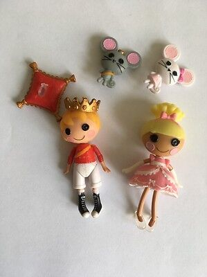 Lalaloopsy Mini Dolls - Mini Cinder Slippers & Prince Handsome With Accessories
