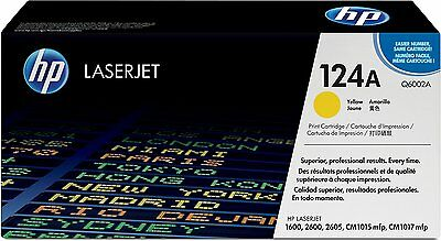 Geniune HP Q6002A (124A) Yellow Toner Cartridge | FAST FREE DELIVERY