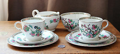 Maddock : Indian Tree : 2 x Trios / Cup Saucer Side Plate + Sugar Bowl  Milk Jug