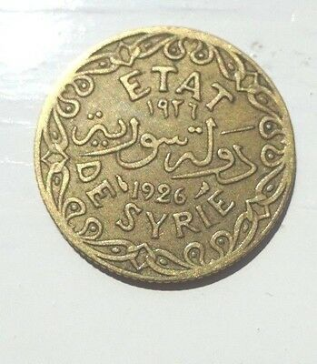 1 Old Coin From Etat De Syrie