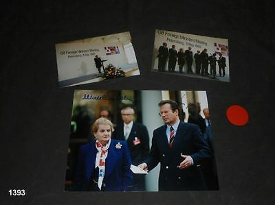 Madeleine Albright - Klaus Kinkel  - Autogramm - Autograph - signed - In Person