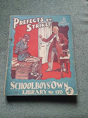 """Frank richards"""" prefects on strike !"""" schoolboys own library number 170"""