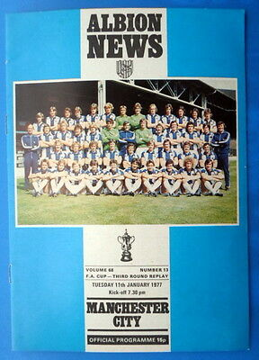 West Bromwich Albion v Manchester City     fa cup round 3 replay      11-1-1977