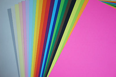 23x A4 Card Craft Paper 23 Colours MULTICOLOUR PACK