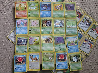 Pokemon cards Job lot bundle approximately 100 Trading Cards and rule book