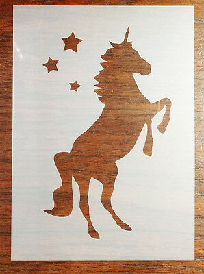 A5 Unicorn Stencil Mask Reusable Mylar Sheet for Arts & Crafts, DIY