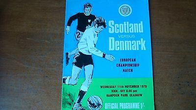 Scotland V Denmark Nov 1970