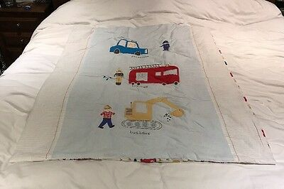 John Lewis Baby Cotbed / Cot Bed Coverlet / Quilt - Boy - Reversible