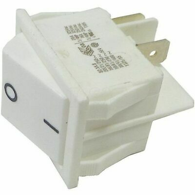 Rocker Switch 240V (White) Fits Belle Maxi 140 Mixer - CMS27