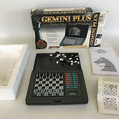 Systema Gemini Plus 2 in 1 Electronic Chess and Draughts Computer