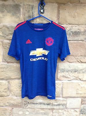 Brand New With Tags Manchester United FC 2016/17 Adidas Away Shirt Blue Medium