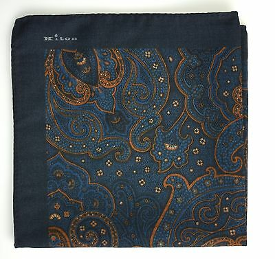 NEW 2017 KITON POCKET SQUARE 100% WOOL  16x16 BEST OF THE BEST+1 KPS160
