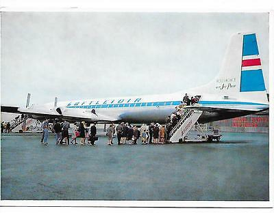 Airline issue postcard-Loftleidir CL44 aircraft