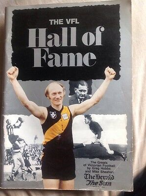 Afl VFL Hall Of Fame Aussie Rules Book Fitzroy Footscray 1980 History