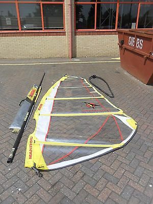 Arrows manituo windsurfing sail, mast and boom