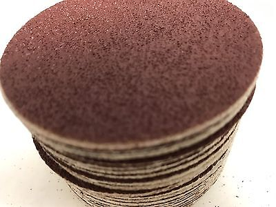 "50 PACK, KEEN #33306, 3"" Hook & Loop Sandpaper SANDING DISC 40 Grit"