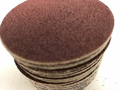 "Pack of 50, KEEN #33306, 3"" Hook & Loop Paper Sanding Discs 40 Grit"