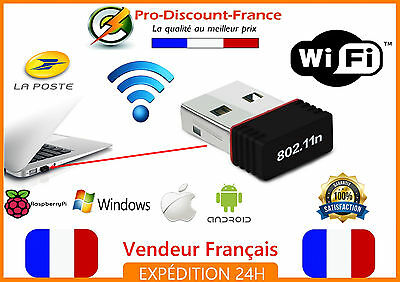 Mini clé USB WIFI 802.11 N G B 150 Mbps 2.4 dongle raspberry apple windows