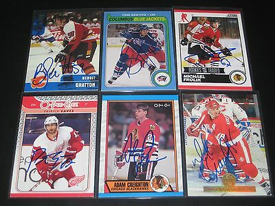 """PATRICK EAVES autographed '09/10 DETROIT RED WINGS """"O-Pee-Chee"""" card"""