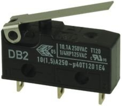 CHERRY DB2CA1LB MICRO SWITCH HINGE LEVER SPDT 10.1A 250V 1 piece