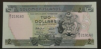 SOLOMON ISLANDS _ 2  DOLLARS  BANKNOTE _ Unc