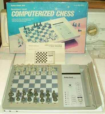 Vintage Radio Shack Computer Chess Game Complete w/inst