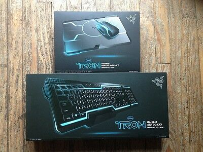 Disney's Tron Razer Gaming Keyboard Mouse Mousepad Bundle