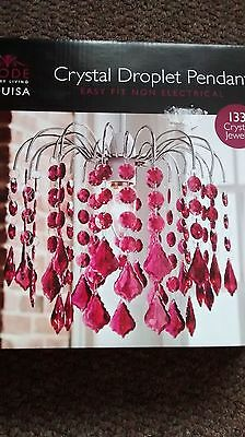 New in box lampshade - crystal gem droplet style light shade
